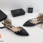 รองเท้าคัทชู ส้นแบน รัดข้อ แต่งหมุดสไตล์วาเลนติโน หนังนิ่ม ใส่สบาย ทรงสวย แมทสวยได้ทุกชุด (K9171)
