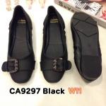 รองเท้าคัทชู ส้นแบน แต่งเข็มขัดด้านหน้าสวยเก๋ หนังนิ่ม ใส่สบาย แมทสวยได้ทุกชุด (CA9297)