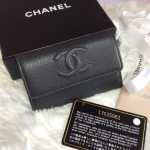 (SOLD OUT)CHANEL card holder cavier สีเทาดำ ของใหม่ holo17
