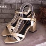 รองเท้าแฟชั่น ส้นสูง รัดส้น สวยเก๋ แบบสวมคาด T ด้านหน้า ทรงสวย สายรัดตะขอเกี่ยวใส่ ง่าย ส้นสูงประมาณ 2.5 นิ้ว แมทสวยได้ทุกชุด