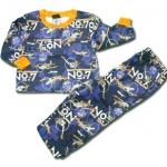 ชุดนอน สีน้ำเงิน-ส้ม ลาย Planes 2T