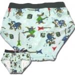 กางเกงในเด็กชาย สีฟ้า ลายหมาเล่นดนตรี 6T