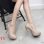 รองเท้าคัทชู ส้นสูง ทรงหัวมน หนังกลิสเตอร์วิ้งสวยหรู หนังนิ่ม ทรงสวย ส้นสูงประมาณ 5 นิ้ว เสริมหน้า 1 นิ้ว ใส่ออกงานสวยโดดเด่น แมทสวยได้ทุกชุด (K9315)