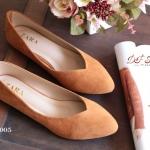 รองเท้าคัทชู ส้นแบน รุ่นคลาสสิค style ZARA วัสดุทำจากหนังกำมะหยี่ ทรงสวย ใส่แล้วเท้าเรียว เก็บหน้าเท้า แมทง่ายใส่เข้ากับทุกชุด ทุกโอกาส สีดำ แดง แทน น้ำเงิน ครีม เหลือง เขียว เทา ส้ม (Z6-005)
