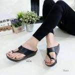 """รองเท้าส้นเตารีด สไตล์ซาร่า แบบสวมหนีบนิ้วโป้ง สวยเก๋ น้ำหนักเบา ไม่สูงมาก 2.5"""" ใส่สบาย"""