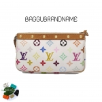 (SOLDOUT)LOUIS VUITTON pochette multicolor white