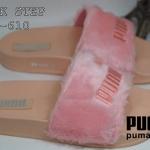 รองเท้าแตะแฟชั่น แบบสวม แต่งเฟอร์นุ่ม ปักลายพูม่าด้านหน้า รุ่น hot hit ใส่สบาย แมท เก๋ได้ทุกชุด (SP610)