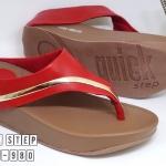รองเท้าแตะแฟชั่น เพื่อสุขภาพ แบบหนีบ แต่งแถบทองด้านข้างสวยเก๋ พื้นซอฟคอมฟอต นิ่มสไตล์ฟิตฟลอบ ใส่สบาย แมทสวยได้ทุกชุด (6651-980)