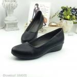 รองเท้าคัทชู ส้นแบน เรียบเก๋คลาสสิค วัสดุพียูนิ่ม ซับในนิ่ม แพทเทิร์นสวย เก็บเรียวเท้า ส้น 1 นิ้ว แมชชุดง่าย สุภาพ ใส่สบาย สีดำ เทา น้ำเงิน