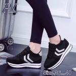 รองเท้าผ้าใบแฟชั่น สวยเท่ห์ สไตล์เกาหลี ใส่สบาย ทรงสวย เสริมส้นประมาณ 1.5 นิ้ว ใส่ เที่ยว ออกกำลังกาย แมทสวยได้ทุกชุด