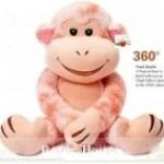 ตุ๊กตาลิงน้อยสีชมพูชีสเค้ก