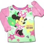 เสื้อแขนยาว สีชมพู-เขียว ลาย Minnie 24M