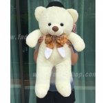 ตุ๊กตาหมีโบว์ใหญ่ White 25 นิ้ว