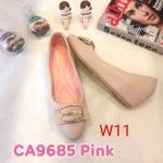 รองเท้าคัทชู ส้นเตารีด แต่งอะไหล่ด้านหน้าสวยเก๋ ทรงสวย หนังนิ่ม ใส่สบาย ส้นสูงประมาณ 2 นิ้ว แมทสวยได้ทุกชุด (CA9685)
