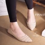 รองเท้าคัทชู ส้นแบน ZARA style หนังกลับอย่างดี ทรง Classic เรียบดูดี แอบเก๋เดินอะไหล่เส้นเงิน ทรงสวยเก็บทรงหุ้มเท้าดี พื้นนิ่ม ดูดีมีสไตล์ให้ คุณสาวๆ ไม่ว่าจะแมทชุดไหนก็สวย สีครีม ดำ (FH-382)