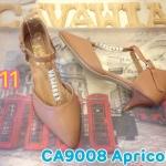 รองเท้าคัทชู ส้นเตี้ย สวยหรู รัดข้อแต่งอะไหล่หรูคาดสายด้านหน้า ส้นสูงประมาณ 1.5 นิ้ว ใส่สบาย แมทสวยได้ทุกชุด (CA9008)