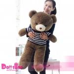ตุ๊กตาหมีใส่เสื้อ ลายทางน้ำเงิน 1.2 เมตร