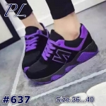 รองเท้าผ้าใบแฟชั่น สวยเท่ห์ แต่งลายสไตล์แบรนด์ บุขอบนวมนิ่มใส่สบาย ทรงสวยกระชับ เท้า ใส่เที่ยว ออกกำลังกาย แมทสวยได้ทุกชุด (637)