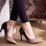 รองเท้าคัทชู ส้นสูง หนังเงาสีไล่โทนสวยหรู ทรงสวยเพรียว ส้นตัดสูงประมาณ 4 นิ้ว ใส่ออกงาน สวยโดดเด่น แมทสวยได้ทุกชุด