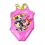 ชุดว่ายน้ำ สีชมพู-เหลือง ลาย The Powerpuff Girls 10T