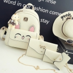 Comic korean style PU set 4 ใบ (สีขาว)