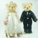 ตุ๊กตาหมีคู่รัก ขนาด 0.30 เมตร (แบบที่ 6)