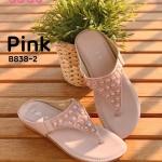 รองเท้าแตะแฟชั่น แบบหนีบ แต่งหมุดคลิสตัลสวยเก๋ พื้นบุนิ่ม ใส่ง่าย ใส่สบาย แมทสวยได้ ทุกชุด (B838-2)