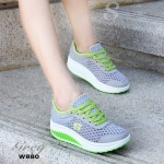 รองเท้าผ้าใบ สไตล์สุขภาพ งานขายดีที่ไม่เคยทำให้ผิดหวัง ผ้าตาข่ายบุนวมนิ่ม ระบายอากาศอย่างดี ติดโลโก้ S ด้านข้าง พื้นหนา 2 นิ้ว ใส่กระชับเท้า พื้นยางกันลื่นอย่างดี นิ่ม น้ำหนักเบา ใส่สบายเท้าสุดๆ เหมาะกับทุกวัย สวมใส่ได้ตลอดไม่มีเอาท์ สีชมพู ฟ้า เทา บานเย็