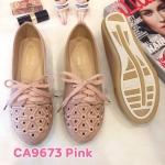 รองเท้าผ้าใบแฟชั่น แต่งฉลุลายสวยหวานสไตล์วินเทจ ทรงสวย หนังนิ่ม พื้นยางนิ่มยืดหยุ่น ใส่สบาย แมทสวยได้ทุกชุด (CA9669)