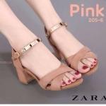 รองเท้าแฟชั่น ส้นสูง รัดข้อ สวยเก๋ หนังอย่างดีแต่งอะไหล่ทองที่สายรัดข้อดูดี ส้นตัดสูง ประมาณ 2.5 นิ้ว ใส่สบาย แมทสวยได้ทุกชุด (205-6)