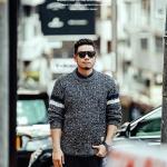 พรีออเดอร์ เสื้อ Sweater อก 51.57 นิ้ว สำหรับผู้ชายไซส์ใหญ่ แขนยาว เก๋ เท่ห์ - Preorder Large Size Men Hitz Long-sleeved Sweater