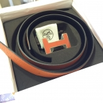 (SOLDOUT)HERMES belt orange/black size 80