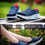 รองเท้าผ้าใบ สไตล์เพื่อสุขภาพ วัสดุอย่างดีนุ่มเบากระชับเท้า เสริมส้นประมาณ 2 นิ้ว ใส่ สบาย แมทสวยได้ทุกชุด (W912)