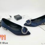 รองเท้าคัทชู ส้นเตี้ย สวยหรู แต่งอะไหล่เพชรด้านหน้า ส้นเคลือบเงาหรูดูดี ทรงสวย ใส่สบาย แมทชุดเก๋ได้ทุกวัน (K9053)