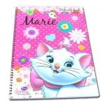 สมุดวาดเขียนสันห่วงใหญ่ สีชมพู ลาย Marie