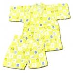 ชุดจิมเบอิ สีเหลือง ลาย Pooh กับน้ำผึ้ง S100