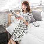 [พรีออเดอร์] เสื้้อเดรสแฟชั่นเกาหลีใหม่ อก 50.78 นิ้ว แขนสั้น สำหรับผู้หญิงไซส์ใหญ่ - [Preorder] New Korean Fashion Dress Short-Sleeved for Large Size Woman