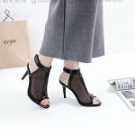รองเท้าแฟชั่น ส้นสูง รัดข้อ แต่งตาข่ายซีทรูหุ้มหน้าเท้าสวยเก๋ลุคเซ็กซี่ ส้นสูงประมาณ 3 นิ้ว ใส่สบาย แมทสวยได้ทุกชุด (G1277)