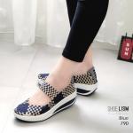 รองเท้าเพื่อสุขภาพ ยางสาน สีทูโทนสวยเก๋ ใส่นิ่มสบายกระชับเท้า ทรงเก็บหน้าเท้า ยางคุณภาพยืดหยุ่นอย่างดี น้ำหนักเบา พื้นนิ่ม เสริมเสมอ ใส่สบาย ไม่เมื่อย ใส่เที่ยวใส่ทำงานได้ เสริมพื้นหนาสูง 2 นิ้ว แมทสวยได้ทุกชุด (790)