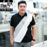 พรีออเดอร์ เสื้อยืด 3 XL - 7 XL อกใหญ่สุด 57.48 นิ้ว แฟชั่นเกาหลีสำหรับผู้ชายไซส์ใหญ่ แขนสั้น เก๋ เท่ห์ - Preorder Large Size Men Korean Hitz Short-sleeved T-Shirt