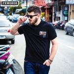 พรีออเดอร์ เสื้อยืด S - 6 XL แฟชั่นเกาหลีสำหรับผู้ชายไซส์ใหญ่ แขนสั้น เก๋ เท่ห์ - Preorder Large Size Men Korean Hitz Short-sleeved T-Shirt