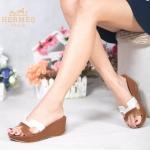 รองเท้าแฟชั่น ส้นเตารีด สวยเก๋ สไตล์แอร์เมส แบบสวมคาดหน้าตัว H ตัดสีทูโทน เรียบเก๋ มีสไตล์ ใส่สบายแมทเก๋ได้ทุกชุด