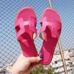 รองเท้าแตะแฟชั่น แบบสวม หน้า H สไตล์แอร์เมสเรียบเก๋ อินเทรนด์ หนังนิ่ม ใส่สบาย แมทสวยได้ทุกชุด (GS02)