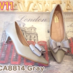 รองเท้าคัทชู ส้นเตี้ย แต่งโบว์สวยหวาน หนังนิ่ม ส้นสูงประมาณ 1.5 นิ้ว ใส่สบาย แมทสวยได้ทุกชุด (CA8814)