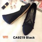 รองเท้าคัทชู ส้นเตารีด แต่งเส้นไขว้ด้านหน้าสวยเก๋ หนังนิ่ม พื้นนิ่ม ใส่สบาย แมทสวยได้ทุกชุด (CA9219)