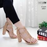 รองเท้าแฟชั่น ส้นสูง แบบสวม รัดข้อ ดีไซน์สุดเก๋สไตล์ ZARA ซิปหลังใส่ง่าย ส้นตัดสูงประมาณ 3 นิ้ว แมทสวยได้ทุกชุด (690-1)