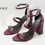 รองเท้าแฟชั่น ส้นสูง แบบสวม รัดข้อ ดีไซน์หนังเส้นเปลือยสวยเรียบเก๋ หนังนิ่ม ทรงสวย ส้นตัดสูงประมาณ 3 นิ้ว ใส่สบาย แมทสวยได้ทุกชุด