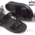 รองเท้าแตะแฟชั่น แบบสวม ประดับคริสตัลสวยหรู ดีเทลละเอียด พื้นซอฟคอมฟอตนิ่มเพื่อสุขภาพ สไตล์ฟิตฟลอบ ใส่เดินสบาย ความสูง 1.5 นิ้ว แมทสวยได้ทุกชุด (6651-582)