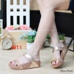 รองเท้าแตะแฟชั่น แบบสวม แต่งโซ่สวยเก๋ พื้นซอฟคอมฟอตนิ่มเพื่อสุขภาพ สไตล์ฟิตฟลอบ ใส่สบาย แมทสวยได้ทุกชุด (PF2314)