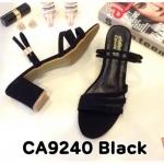 รองเท้าแฟชั่น ส้นสูง แบบสวม สายคาดใส่ได้ 2 แบบ ทั้งสวมและรัดส้น ทรงสวยเรียบหรู ส้นสูงประมาณ 3 นิ้ว ใส่สบาย แมทสวยได้ทุกชุด (CA9240)